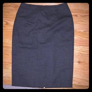 Hugo Boss charcoal grey wool pencil skirt.